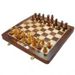 Personalised Chess Set, 12 inch Folding  ref CS12